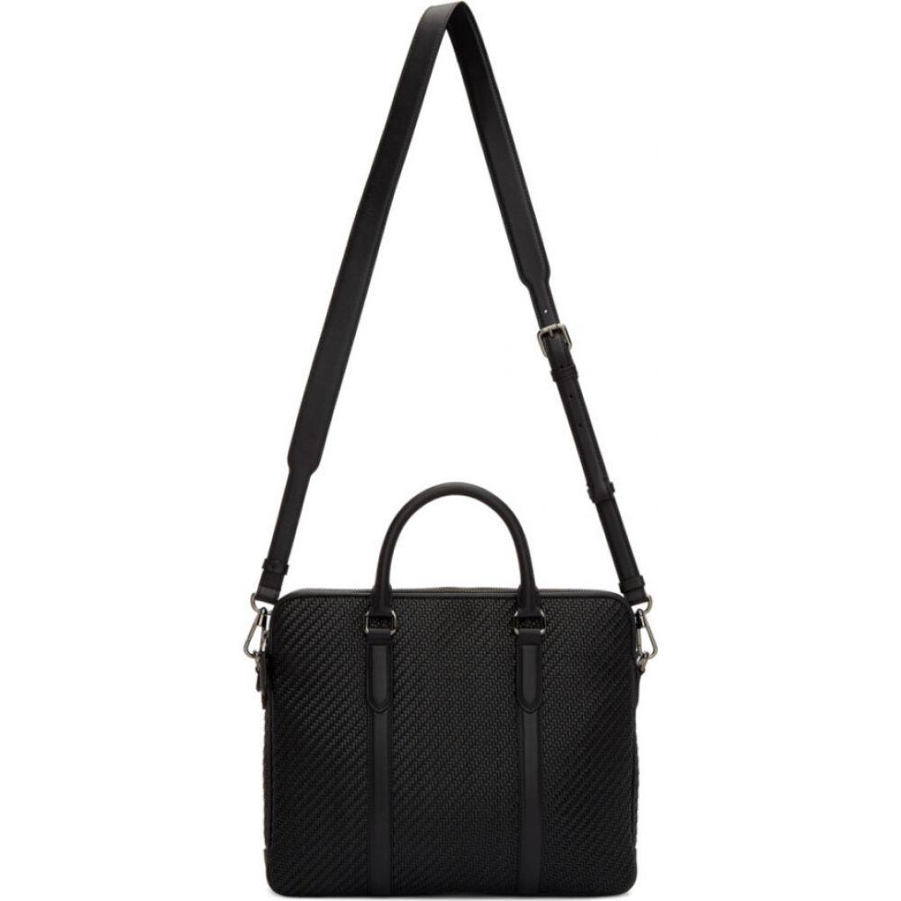 エルメネジルド ゼニア Ermenegildo Zegna メンズ ビジネスバッグ・ブリーフケース バッグ【Black Pelletessuta Veloce Duo Briefcase】Black