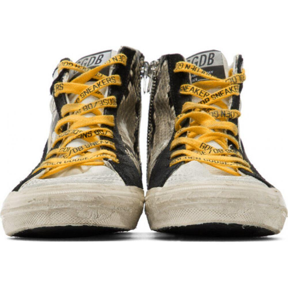 ゴールデン グース Golden Goose メンズ スニーカー シューズ・靴 GreyBlack Snake High Top Sneakers Rock YellowQxshCtrd