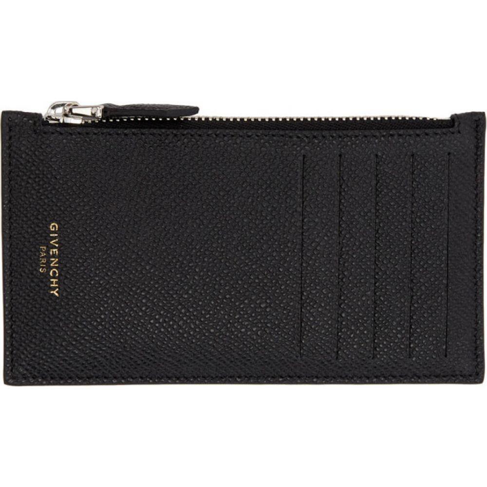 ジバンシー Givenchy メンズ カードケース・名刺入れ カードホルダー【Black Zippered Card Holder】Black