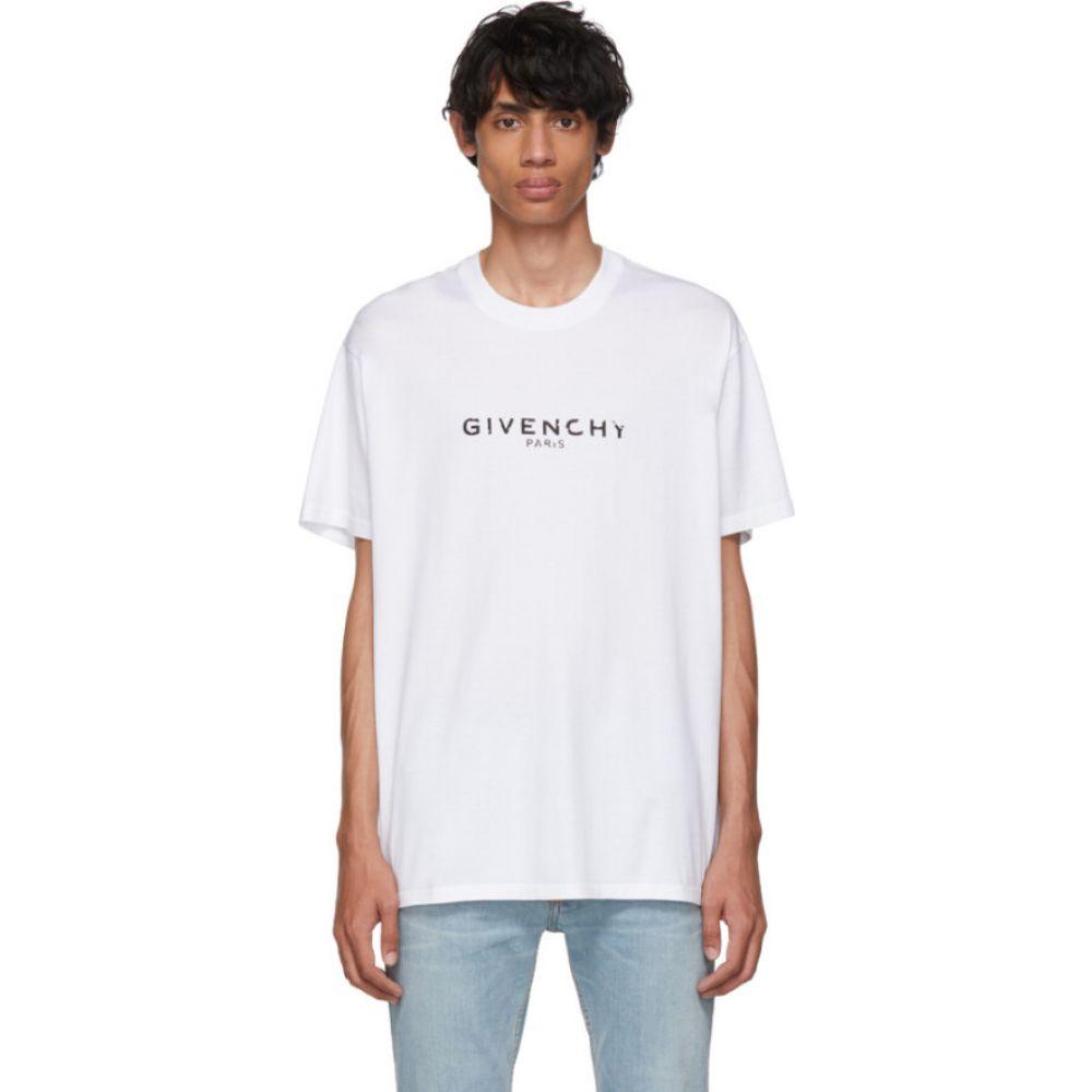 ジバンシー Givenchy メンズ Tシャツ トップス【White Oversized 'Paris' Vintage T-Shirt】White
