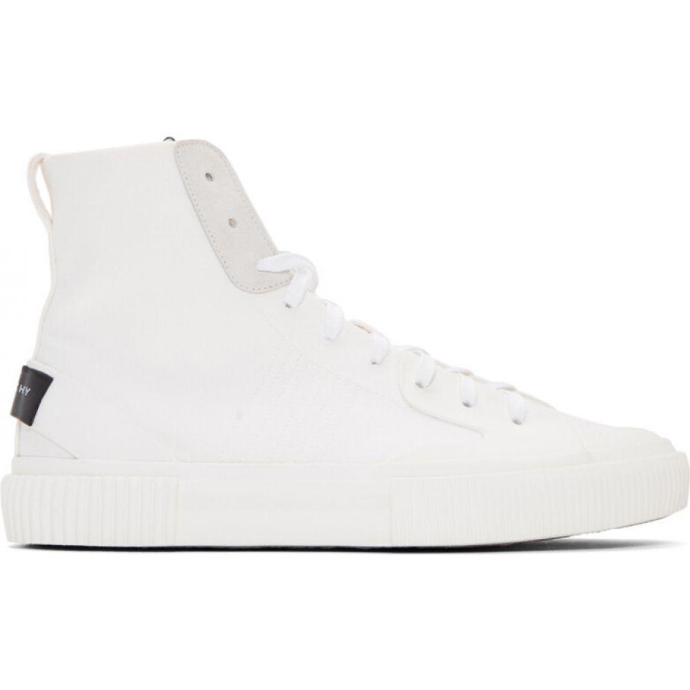ジバンシー Givenchy メンズ テニス スニーカー シューズ・靴【White Tennis Light Mid-Top Sneakers】White
