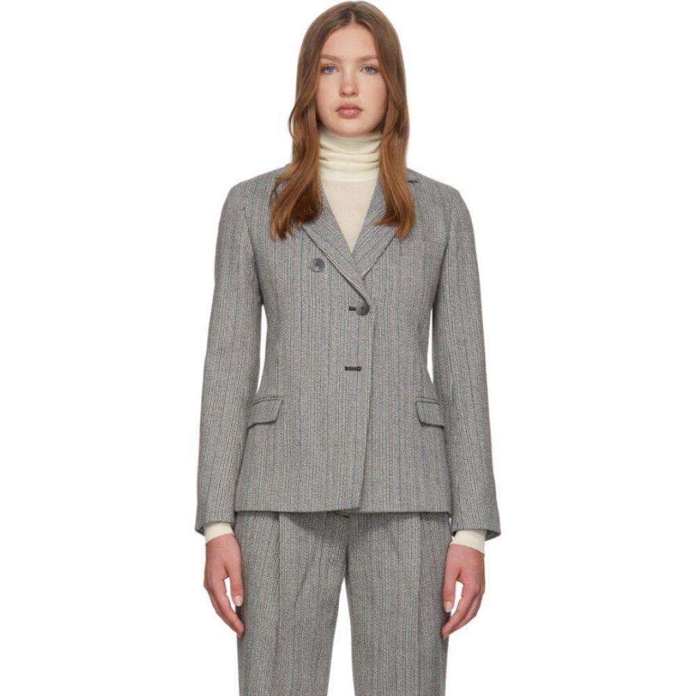 スリーワン フィリップ リム 3.1 Phillip Lim レディース スーツ・ジャケット アウター【Grey Merino Series Tweed Blazer】Navy/White