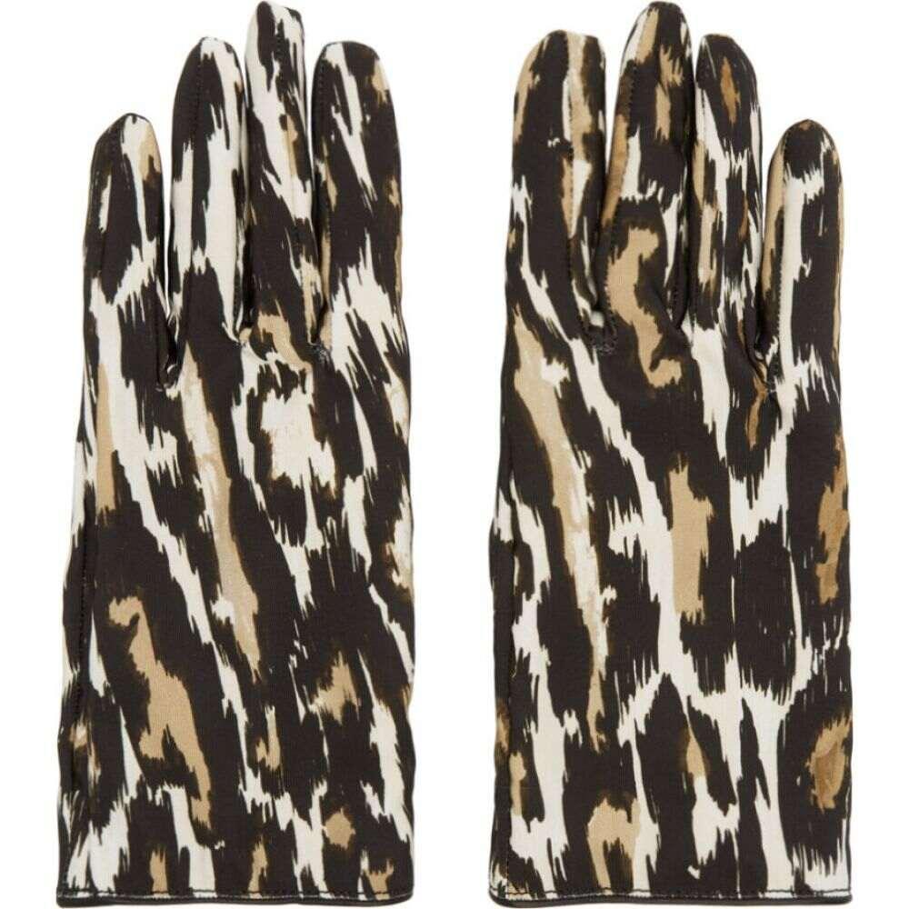 ラフ シモンズ Raf Simons メンズ 手袋・グローブ 【Beige & Brown Animal Fabric Gloves】Ecru/Brown