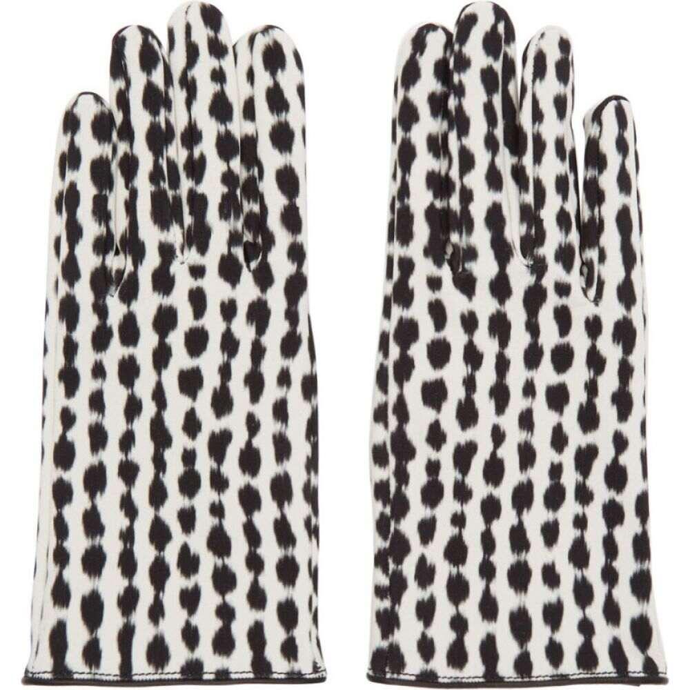 ラフ シモンズ Raf Simons メンズ 手袋・グローブ 【Black & White Animal Print Gloves】Ecru/Brown