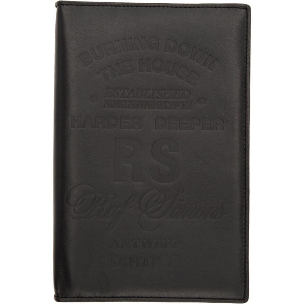 ラフ シモンズ Raf Simons メンズ 財布 【Black Big Zipped Wallet】Black