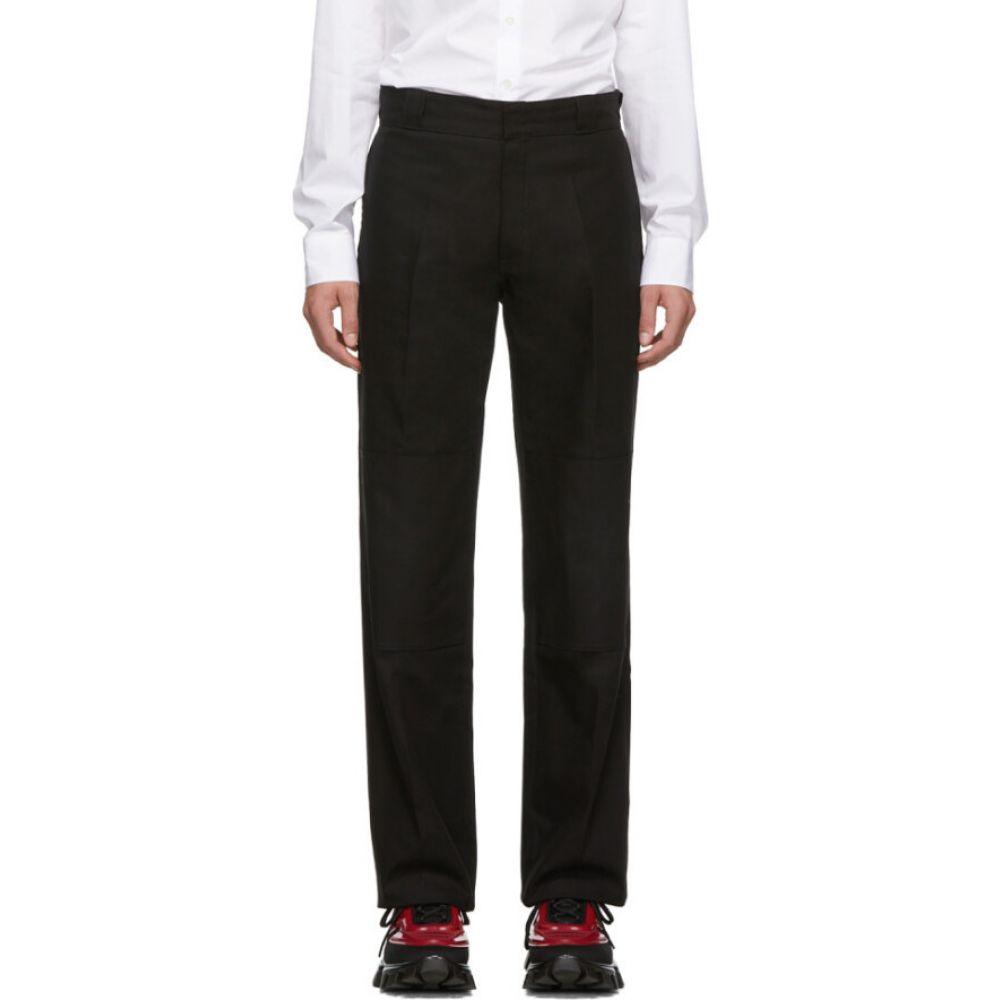 ラフ シモンズ Raf Simons メンズ ボトムス・パンツ 【Black 'Illusions' Straight Fit Trousers】Black