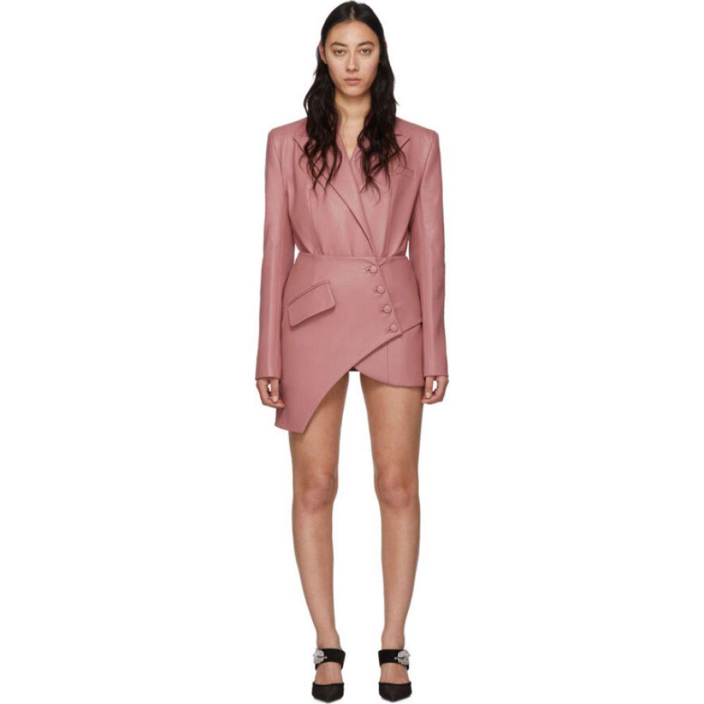 マテリエルティビリシ Materiel Tbilisi レディース スーツ・ジャケット アウター【Pink Faux-Leather Corset Blazer】Pink