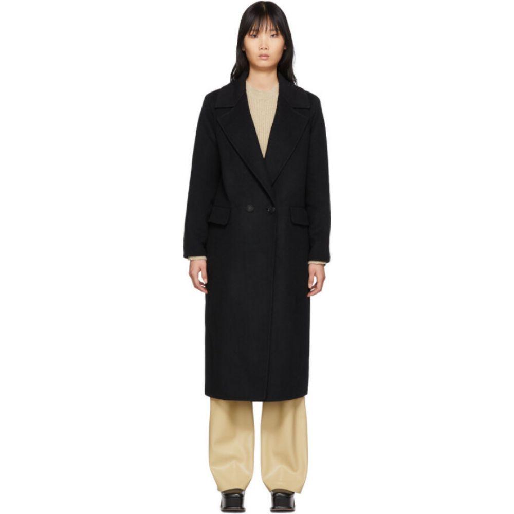 シチュアシオニスト The Loom レディース コート アウター【Black Wool Double Coat】Black