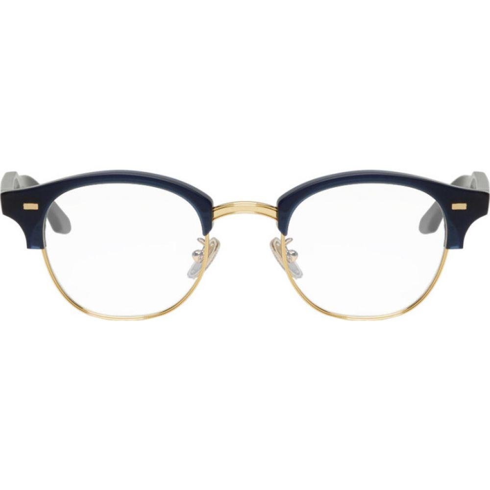 カトラー アンド グロス Cutler And Gross メンズ メガネ・サングラス 【Navy 1333-04 Glasses】Matt navy blue