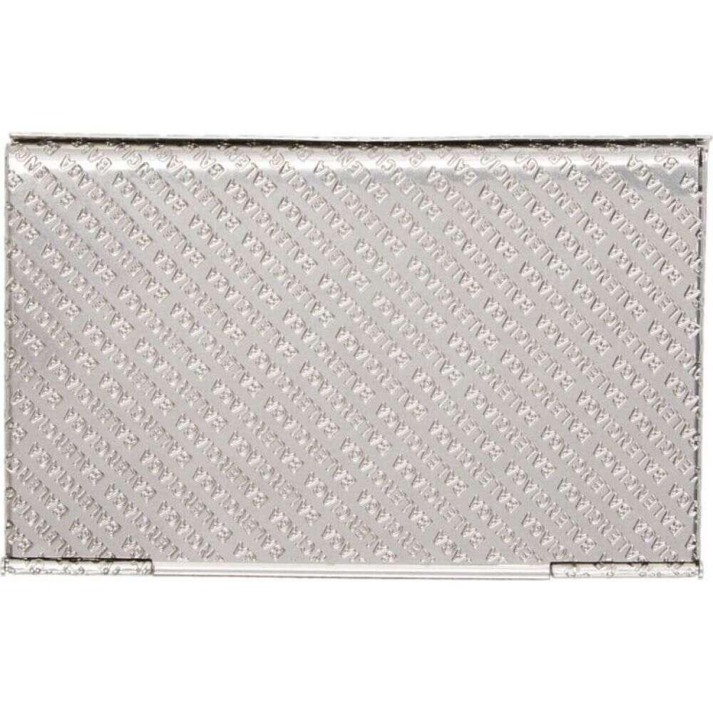 バレンシアガ Balenciaga メンズ カードケース・名刺入れ カードホルダー【Silver Logo Hard Card Holder】Palladium