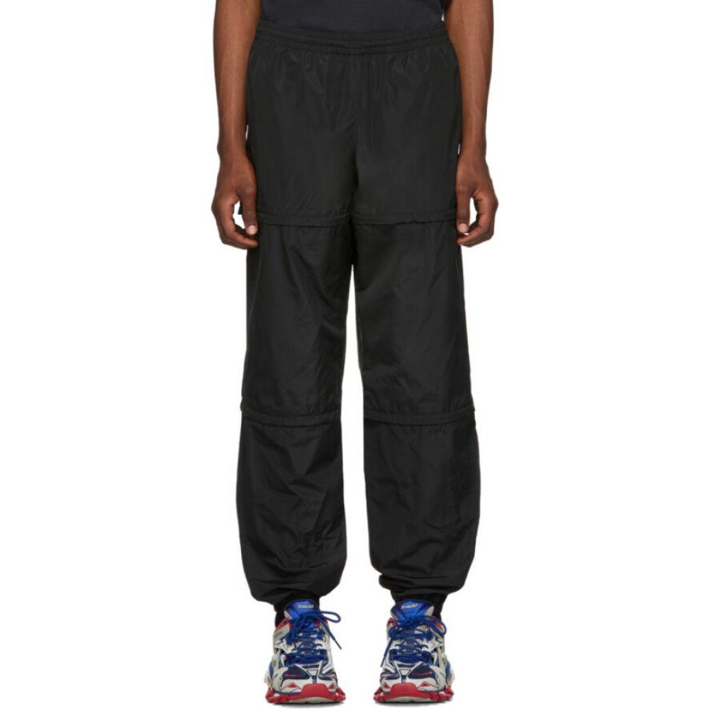 バレンシアガ Balenciaga メンズ スウェット・ジャージ ボトムス・パンツ【Black Technical Micro Faille Zipped Track Pants】Black