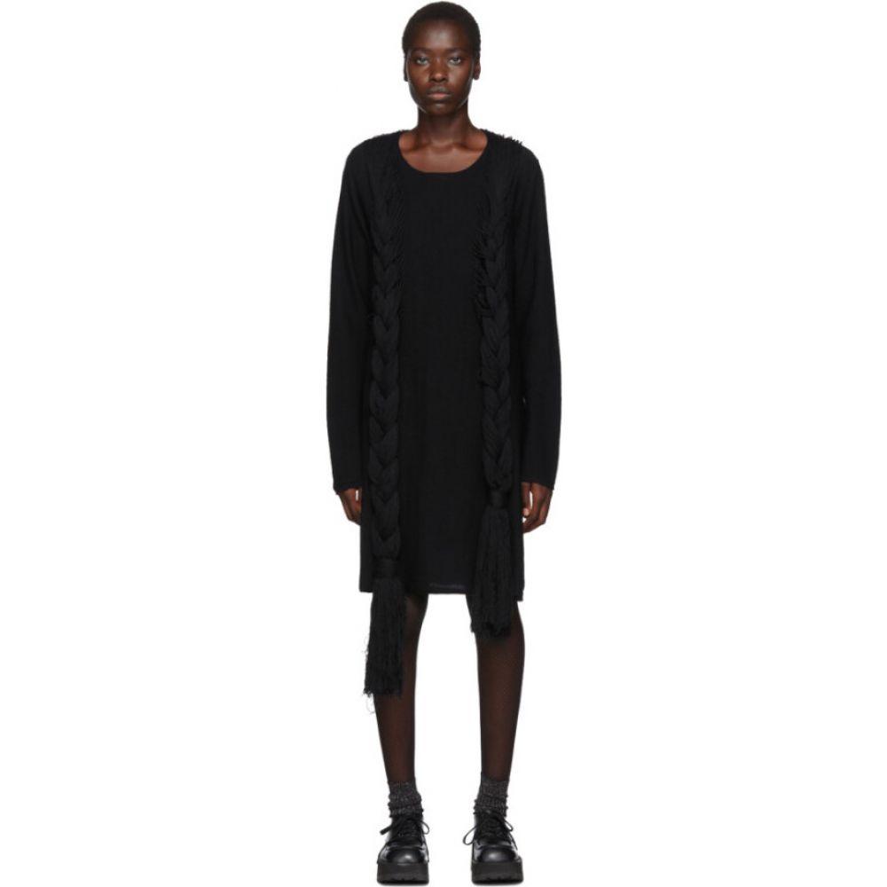 コム デ ギャルソン Comme des Garcons Homme Plus レディース ワンピース ワンピース・ドレス【Black Worsted Yarn Braid Dress】Black