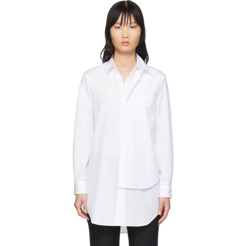 コム デ ギャルソン Comme des Garcons Homme Plus レディース ブラウス・シャツ トップス【White Double Layer Shirt】White