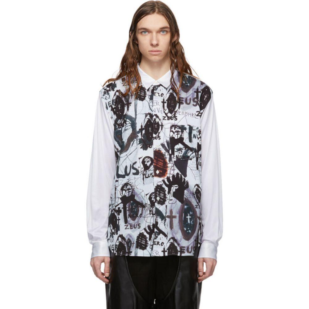 コム デ ギャルソン Comme des Garcons Homme Plus メンズ シャツ トップス【White Jonathan Meese Edition Inkjet Shirt】White