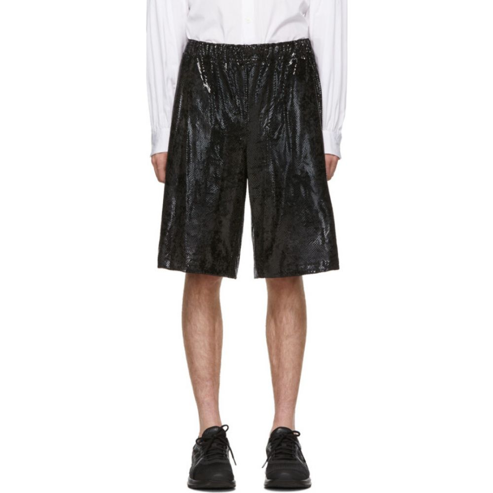コム デ ギャルソン Comme des Garcons Homme Plus メンズ ショートパンツ ボトムス・パンツ【Black Foil Jersey Shorts】Black