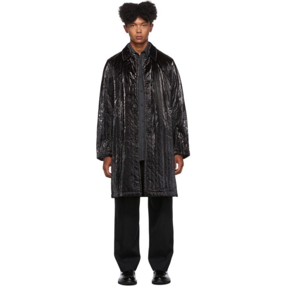ドリス ヴァン ノッテン Dries Van Noten メンズ コート アウター【Black Coated Satin Coat】Black