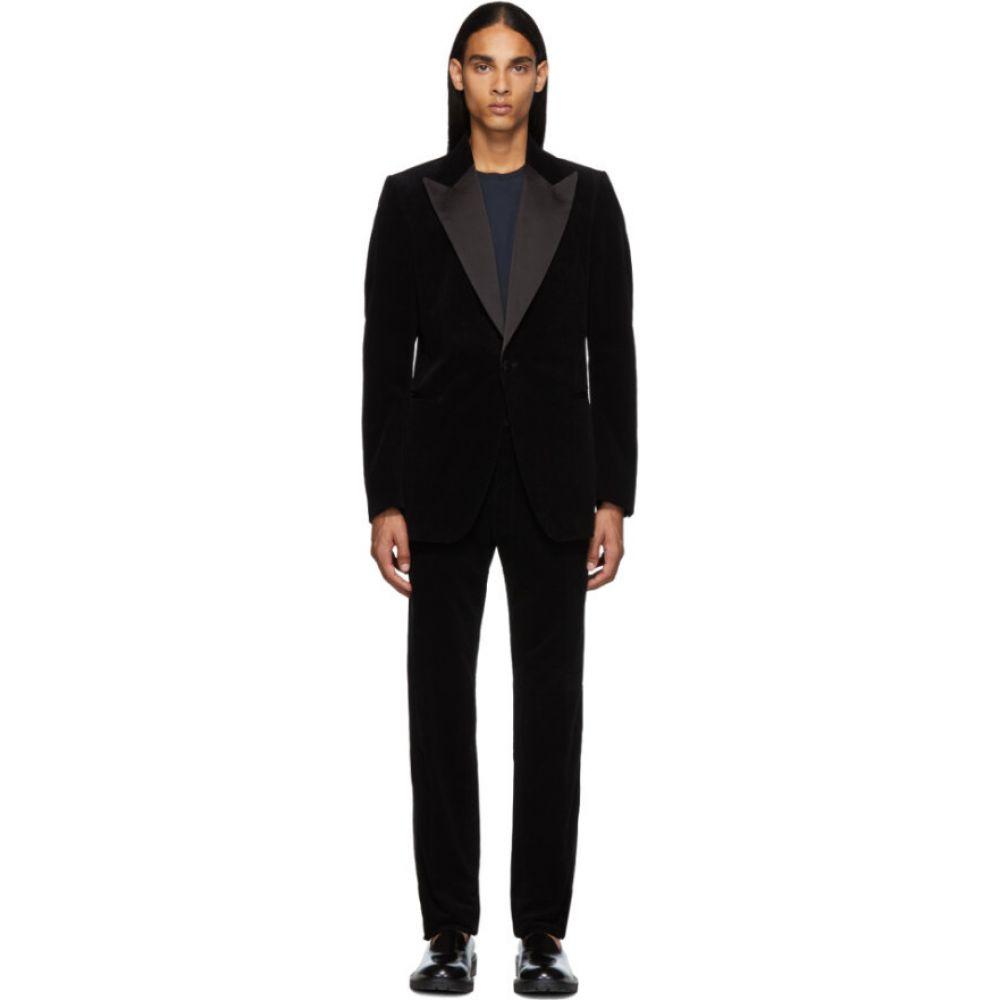 ドリス ヴァン ノッテン Dries Van Noten メンズ スーツ・ジャケット タキシード アウター【Black Corduroy Tuxedo】Black
