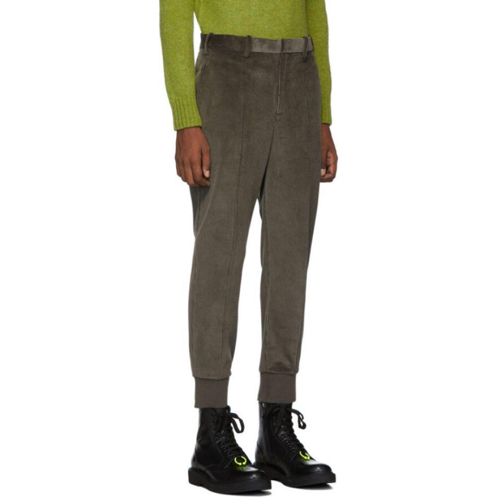 ニール バレット Neil Barrett メンズ スキニー・スリム ボトムス・パンツ Taupe Slim Corduroy Trousers MudQxhrstdC