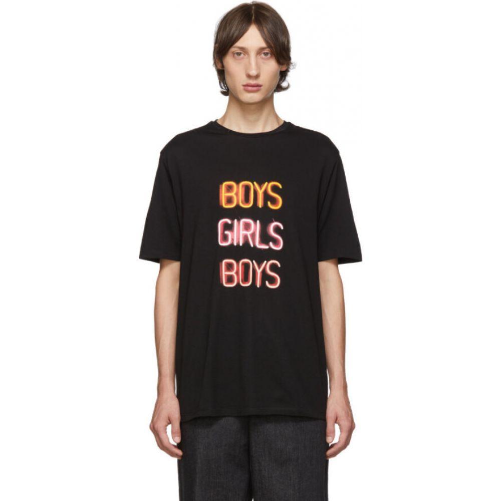 ニール バレット Neil Barrett メンズ Tシャツ トップス【Black 'Boys Girls Boys' T-Shirt】Black/Orange/Pink