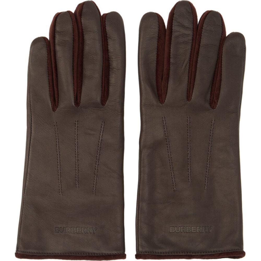 バーバリー Burberry メンズ 手袋・グローブ 【Burgundy Leather & Velvet Classic Gloves】Burgundy
