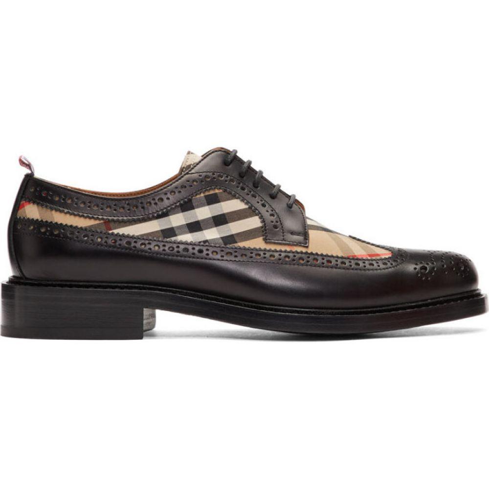 バーバリー Burberry メンズ 革靴・ビジネスシューズ メダリオン シューズ・靴【Black Andale KC Brogues】Black/Archive beige