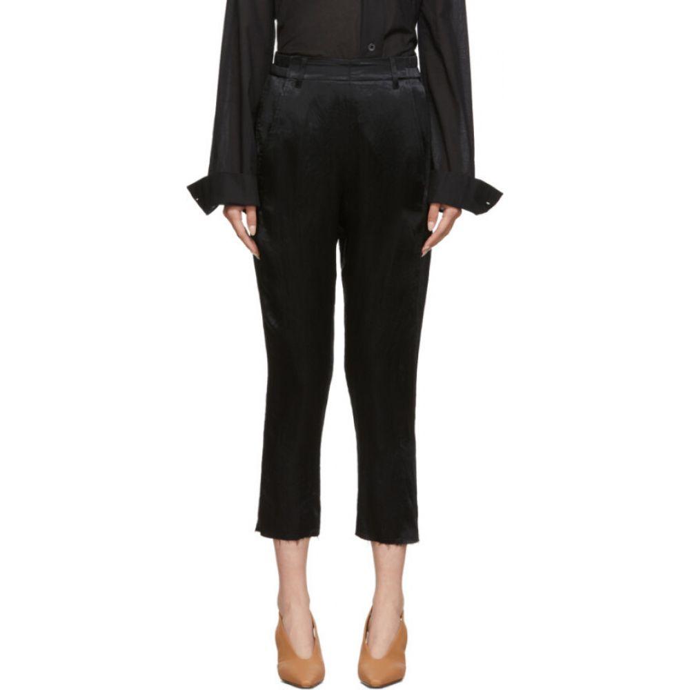 アンドゥムルメステール Ann Demeulemeester レディース ボトムス・パンツ 【Black Satin Trousers】Black