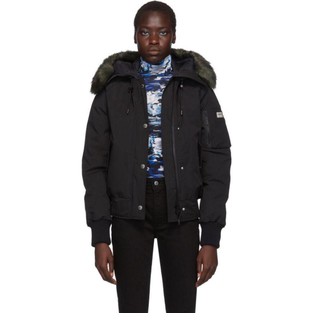 ケンゾー Kenzo レディース ダウン・中綿ジャケット フード アウター【Black Down Faux-Fur Hooded Jacket】Black