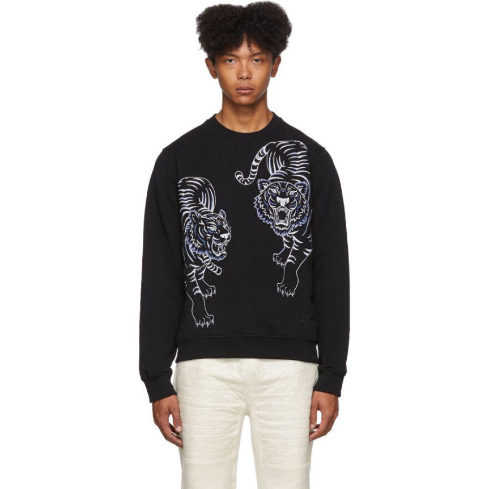 ケンゾー Kenzo メンズ スウェット・トレーナー トップス【Black Double Tiger Sweatshirt】Black
