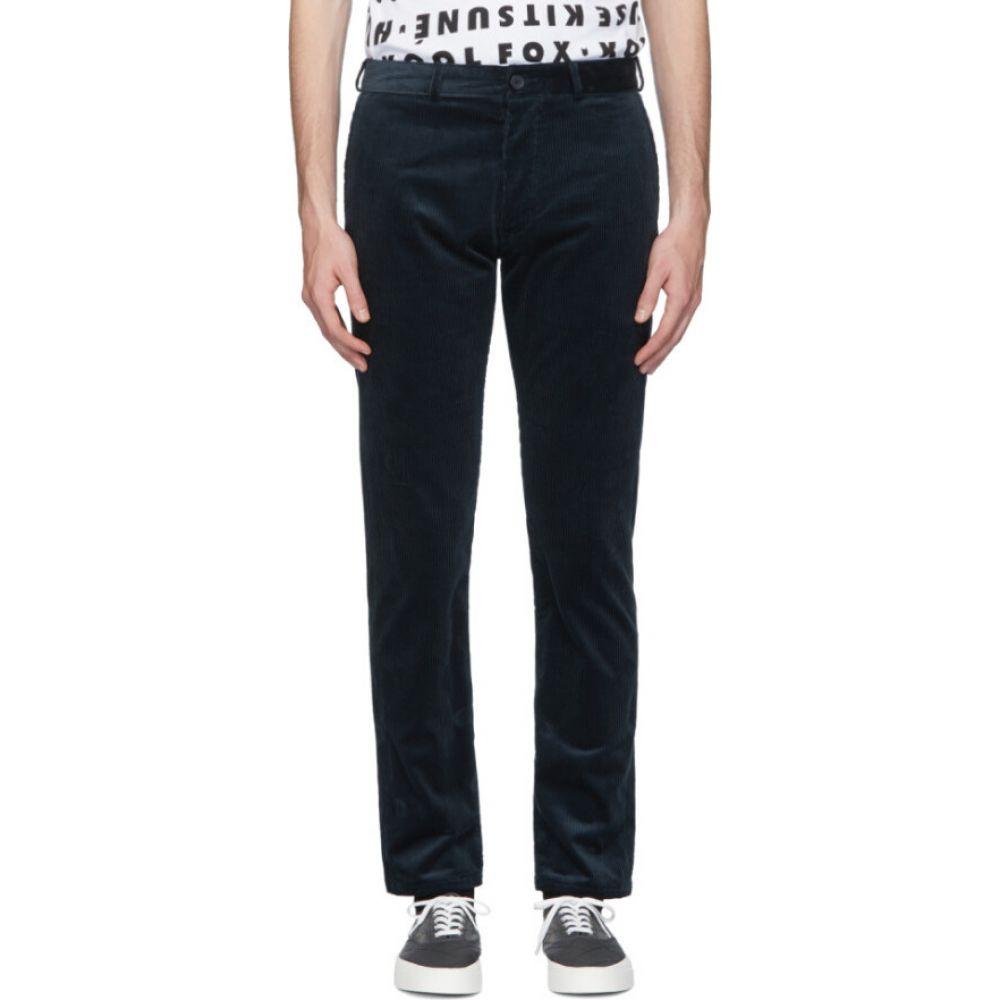 メゾン キツネ Maison Kitsune メンズ チノパン ボトムス・パンツ【Blue Corduroy Perfect Chino Trousers】Petrol