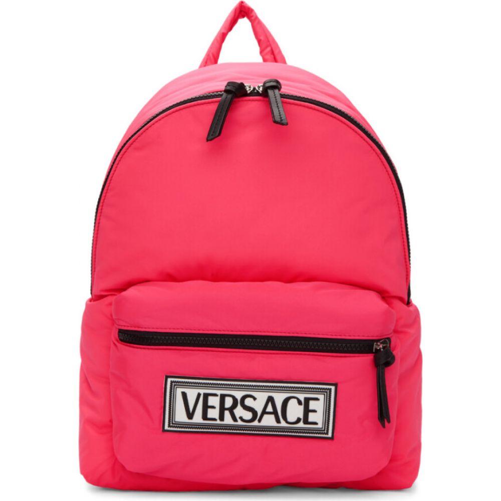 ヴェルサーチ Versace メンズ バックパック・リュック バッグ【Pink Logo Backpack】Lipstick/Palladium