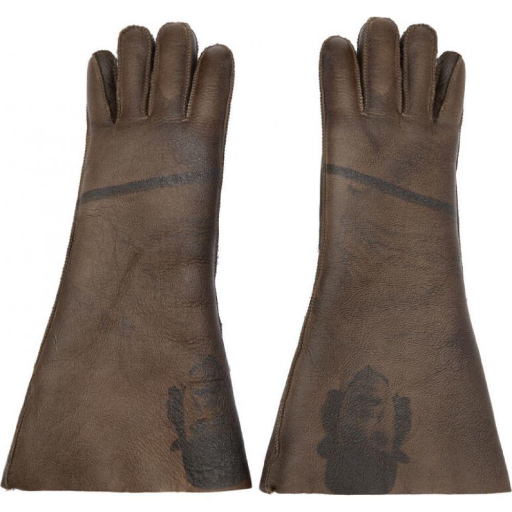 アンダーカバー Undercover メンズ 手袋・グローブ シアリング【Brown Shearling A Clockwork Orange Alex Gloves】Brown