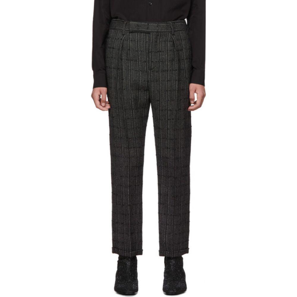 イヴ サンローラン Saint Laurent メンズ ボトムス・パンツ 【Black & Grey Tweed Trousers】Black/Chalk
