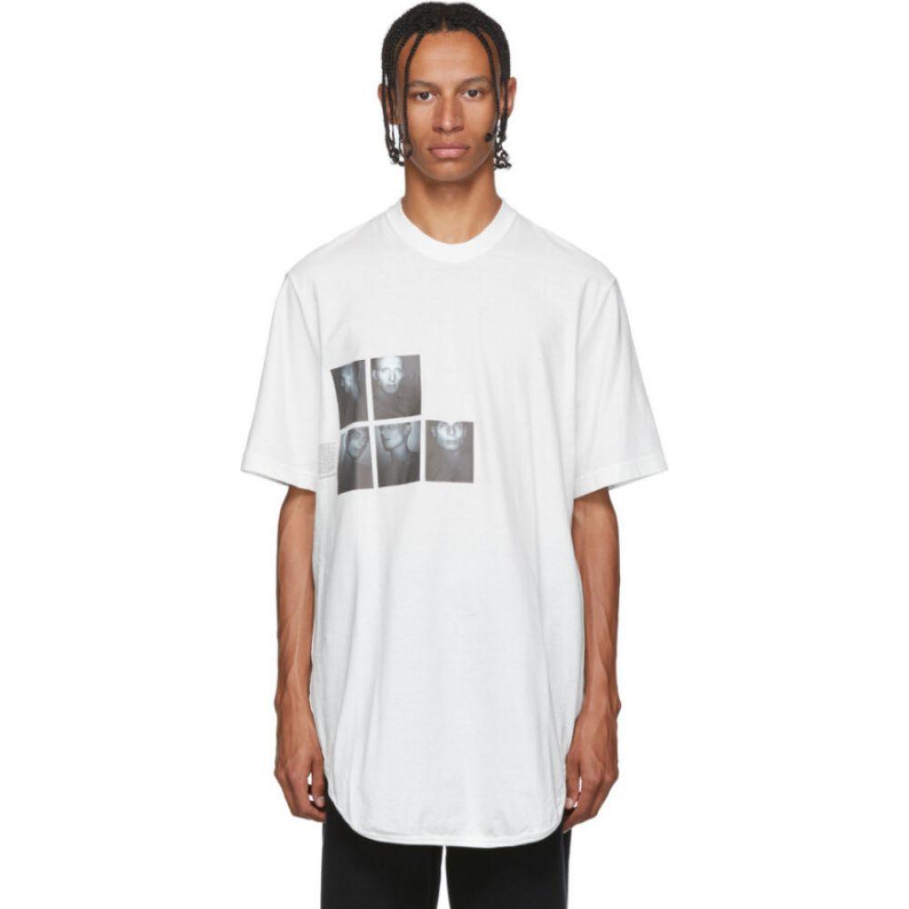 ユリウス Julius メンズ Tシャツ トップス【White Graphic Drop-Tail T-Shirt】Off white