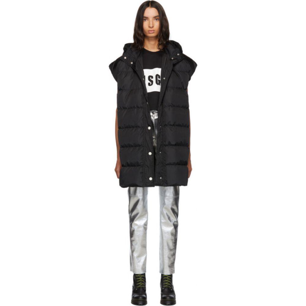 エムエスジーエム MSGM レディース ベスト・ジレ ダウンベスト トップス【Black Down Oversized Vest】Black