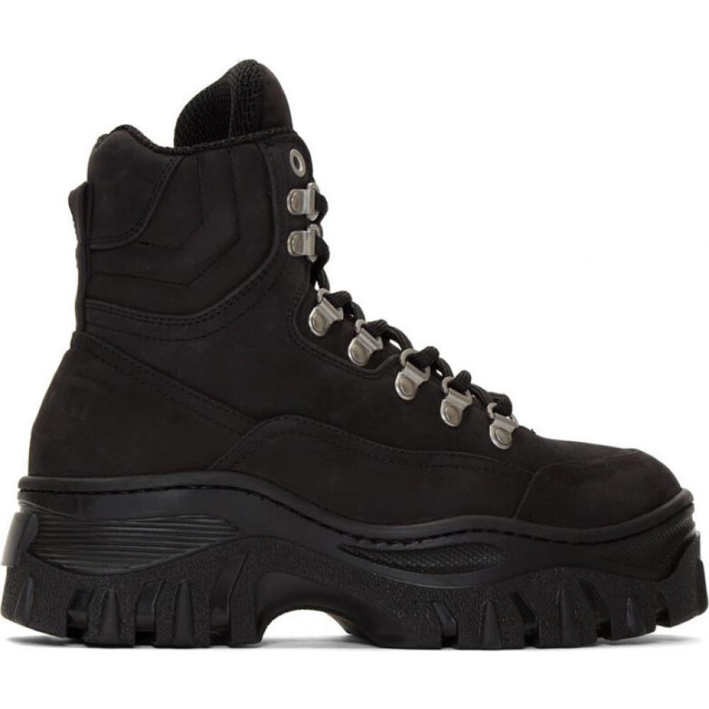 エムエスジーエム MSGM レディース スニーカー シューズ・靴【Black Tractor Sneakers】Black