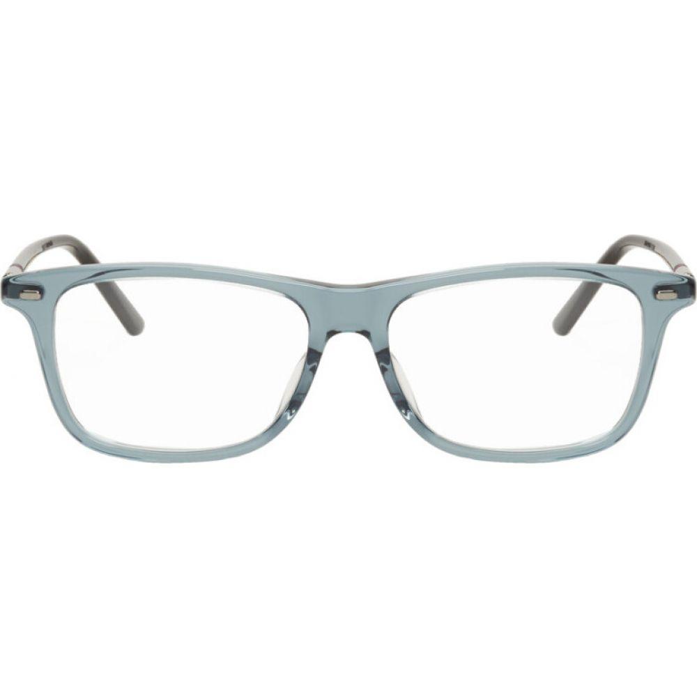 グッチ Gucci メンズ メガネ・サングラス 【Grey Transparent Square Glasses】Black/Ruthenium/Transparent