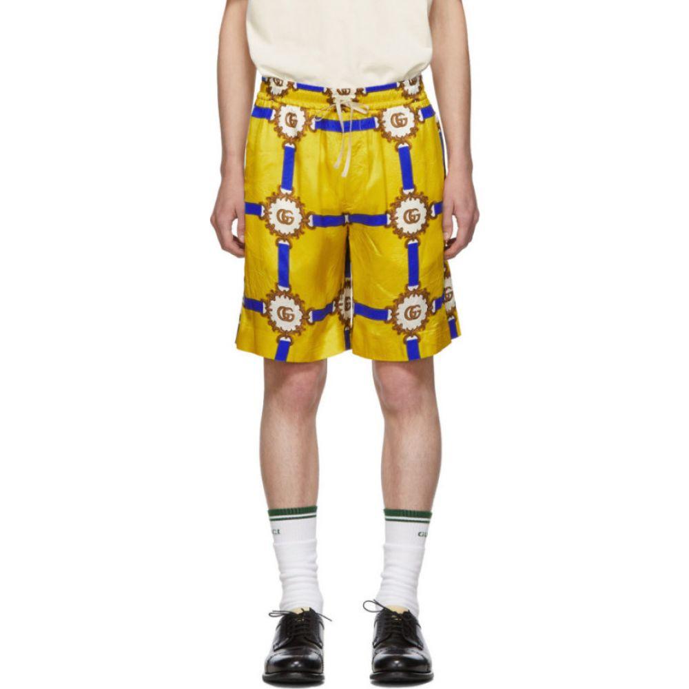 グッチ Gucci メンズ ショートパンツ ボトムス・パンツ【Yellow GG Marmont Shorts】Yellow