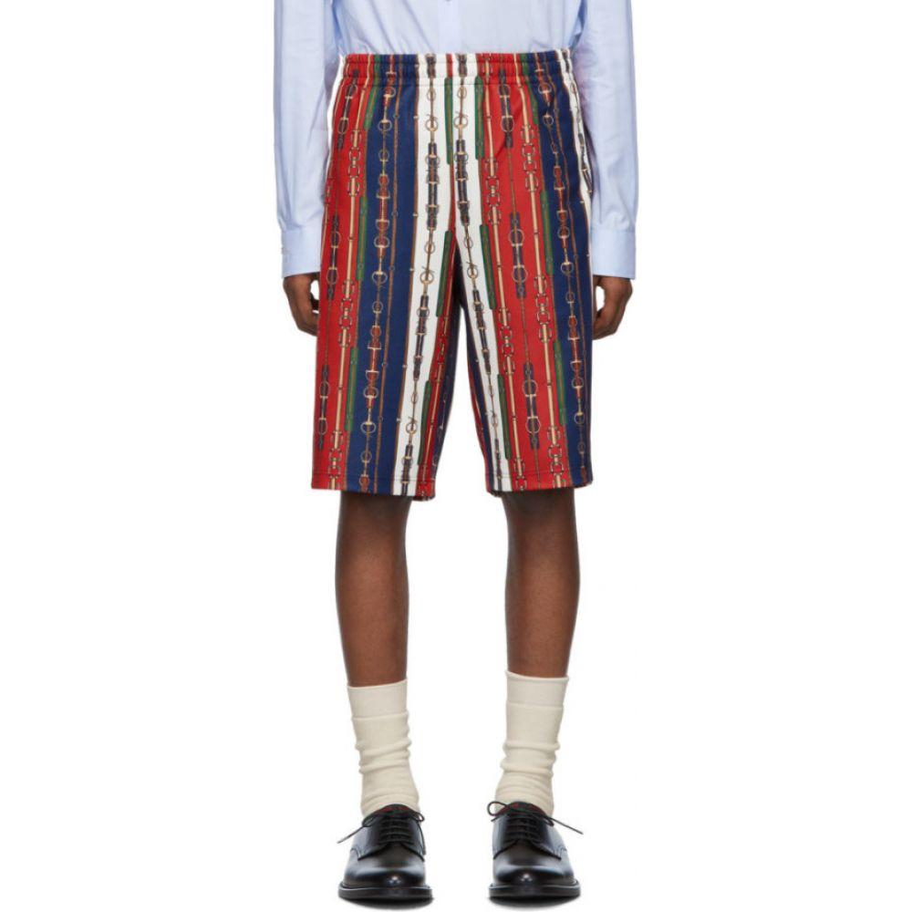 グッチ Gucci メンズ ショートパンツ ボトムス・パンツ【Red Horsebit Print Shorts】Red
