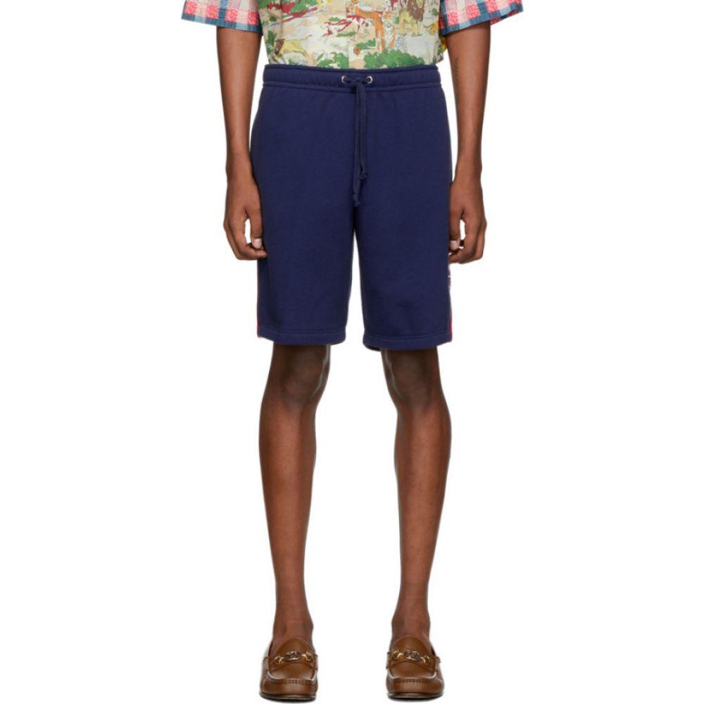 グッチ Gucci メンズ ショートパンツ ボトムス・パンツ【Blue GG Star Patch Shorts】Blue