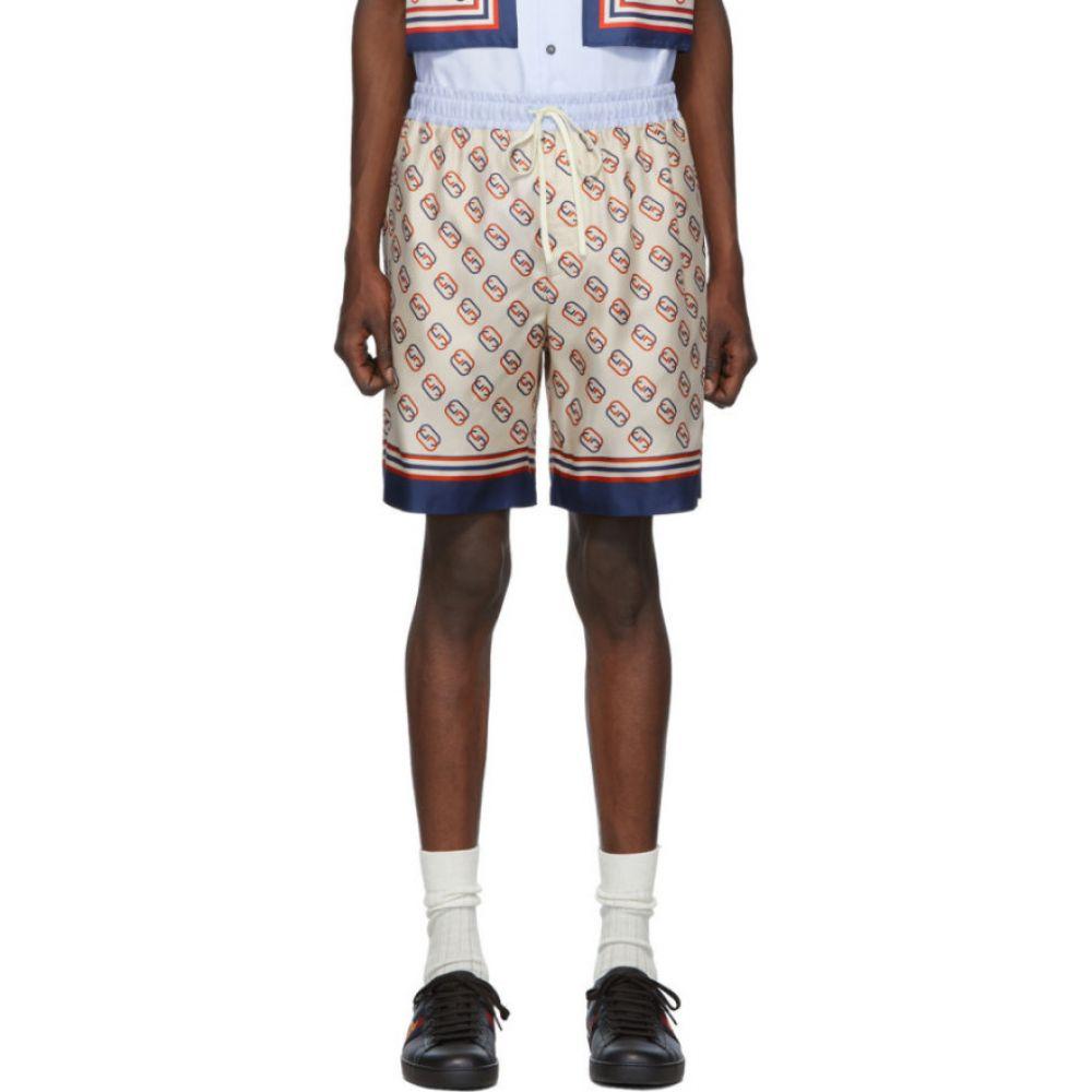 グッチ Gucci メンズ ショートパンツ ボトムス・パンツ【Off-White Silk GG Shorts】White