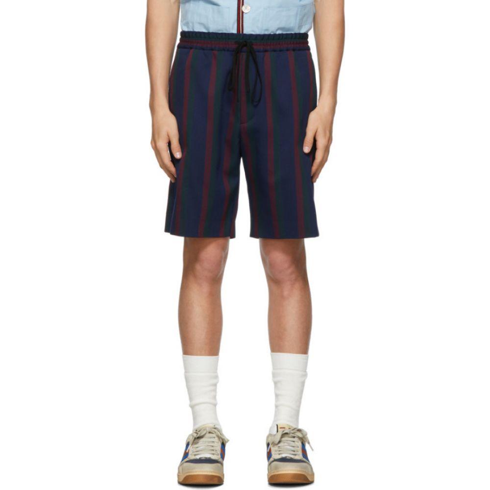グッチ Gucci メンズ ショートパンツ ボトムス・パンツ【Navy Stripe Vintage Colton Shorts】Blue