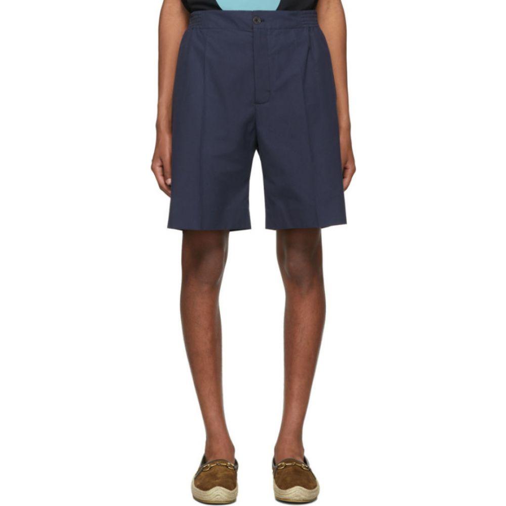 グッチ Gucci メンズ ショートパンツ ボトムス・パンツ【Navy Poplin Shorts】Navy