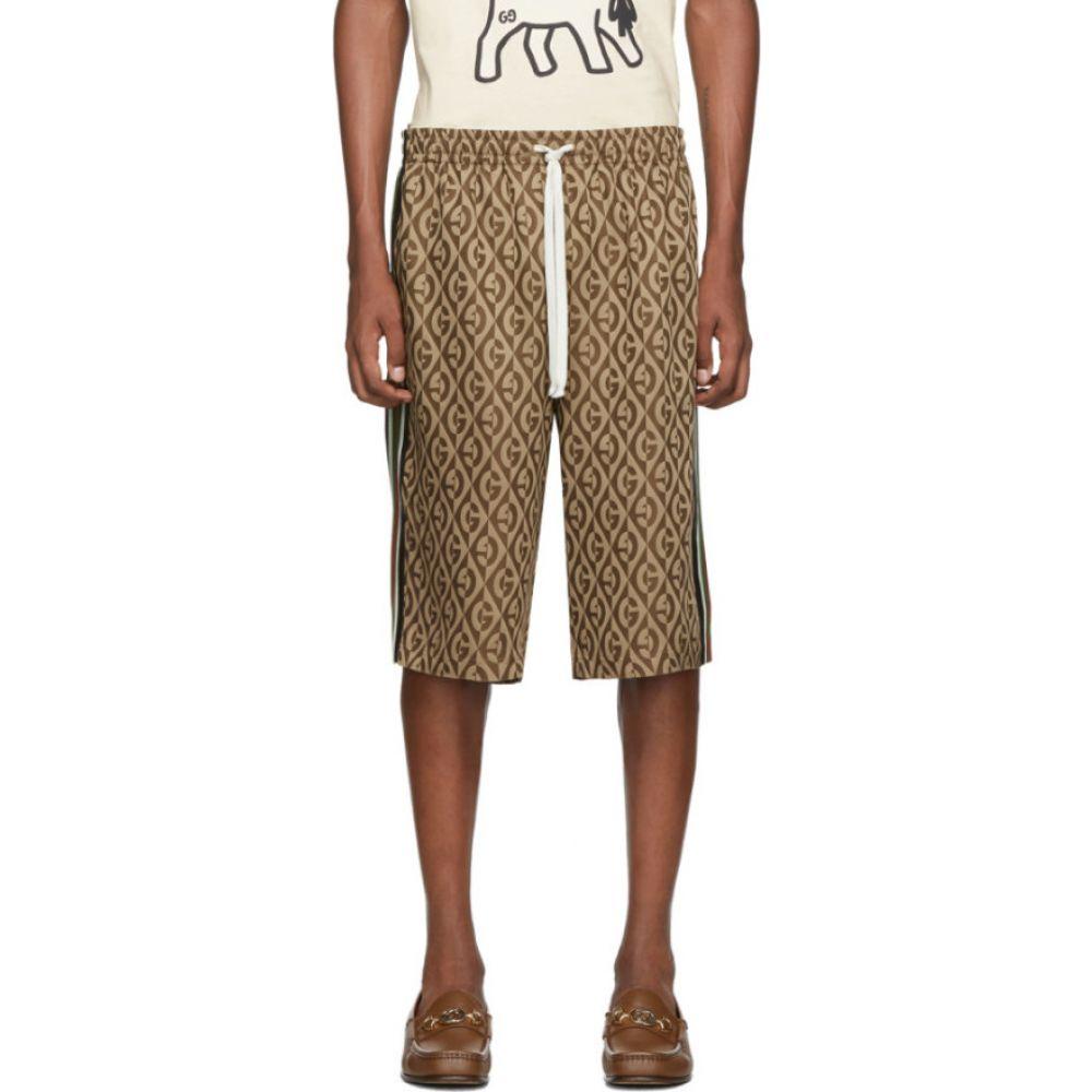 グッチ Gucci メンズ ショートパンツ ボトムス・パンツ【Brown G Rhombus Shorts】Brown/Multicolor