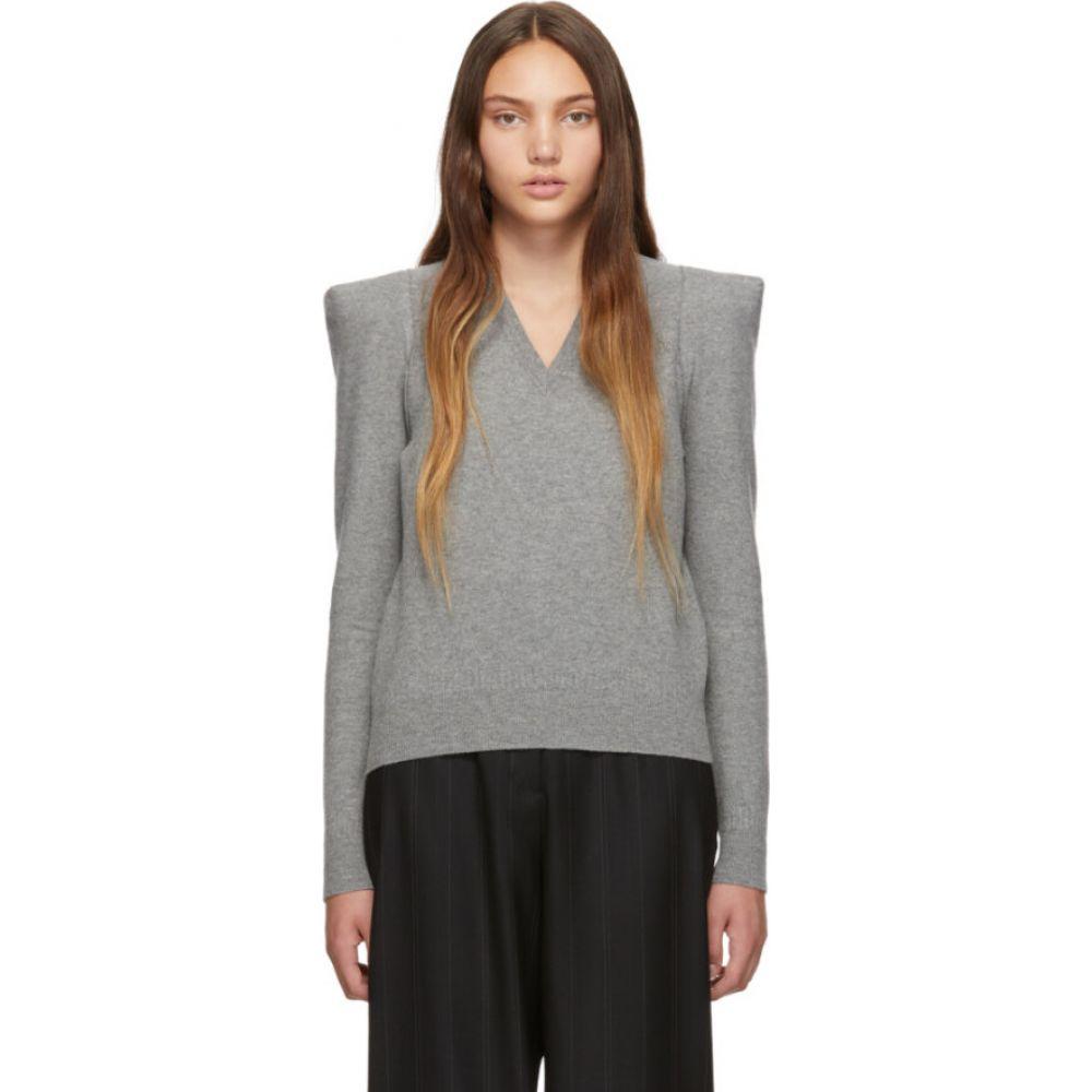 ステラ マッカートニー Stella McCartney レディース ニット・セーター トップス【Grey Wide Shoulder Sweater】Grey