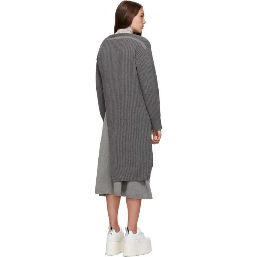 ステラ マッカートニー Stella McCartney レディース ニット・セーター トップス Grey Slashed Sweater GreyzpUMSV