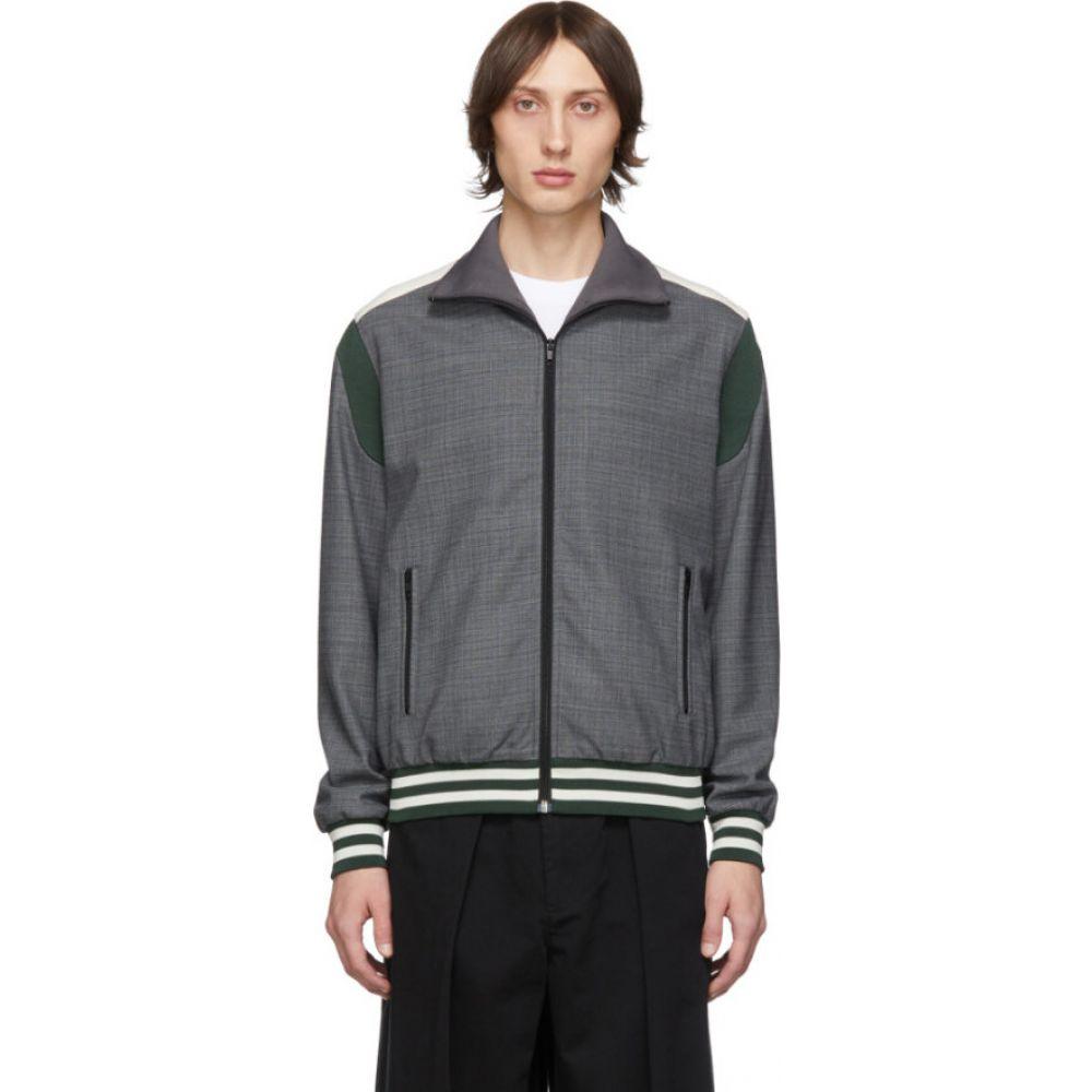 ステラ マッカートニー Stella McCartney メンズ ジャージ アウター【Grey Jerry Blouson Track Jacket】Grey