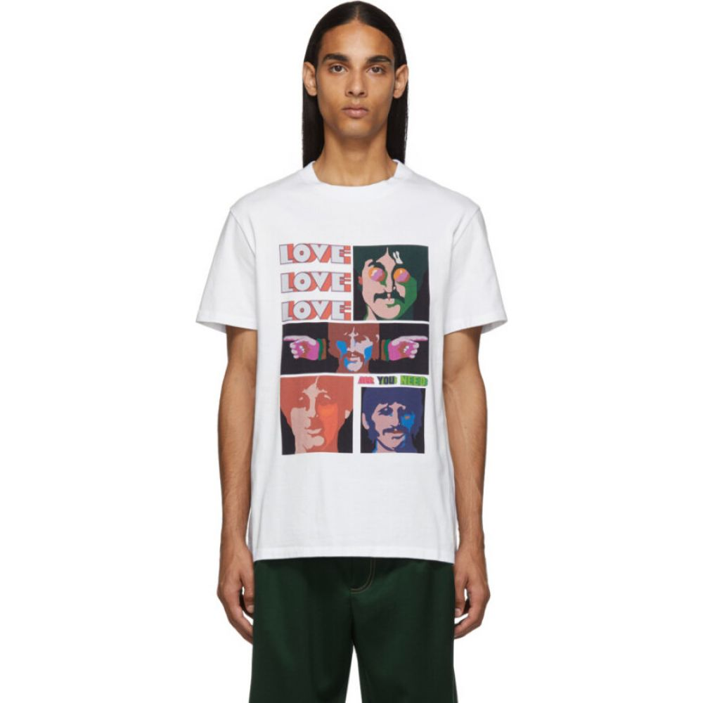 ステラ マッカートニー Stella McCartney メンズ Tシャツ トップス【White The Beatles Edition Oversized Printed T-Shirt】White