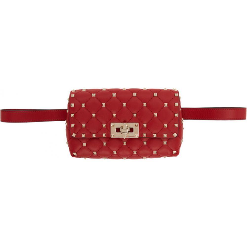 ヴァレンティノ Valentino レディース ボディバッグ・ウエストポーチ バッグ【Red Garavani Rockstud Belt Bag】Rouge pur