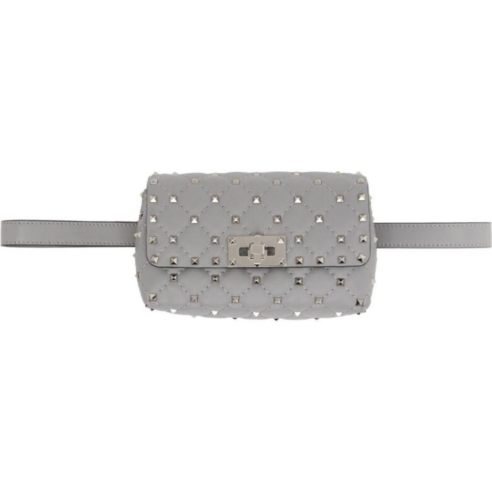 ヴァレンティノ Valentino レディース ボディバッグ・ウエストポーチ バッグ【Grey Garavani Rockstud Belt Bag】Pastel grey