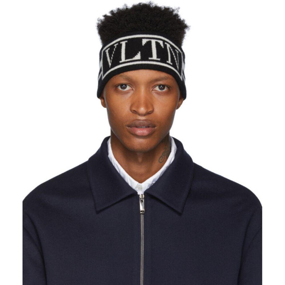 ヴァレンティノ Valentino メンズ ヘアアクセサリー ヘッドバンド【Black Garavani 'VLTN' Headband】Black/White
